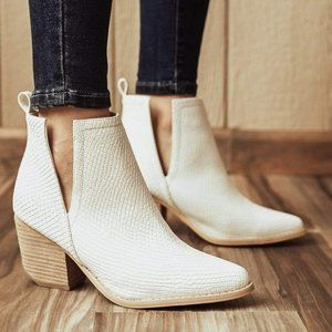 These Boots Were Made For Walking Snakeskin Bootie